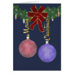 Merry Christmas Ornaments Greeting Card