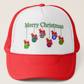 Merry Christmas & Ornaments Hat