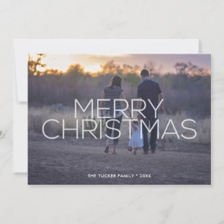 Merry Christmas Overlay Full Photo Card