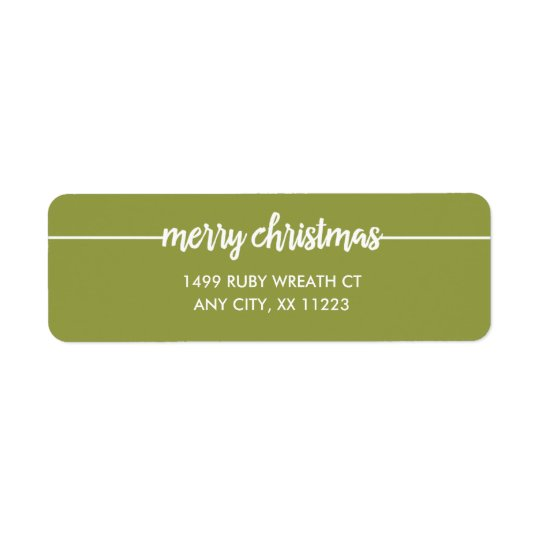 merry christmas overlay return address any color label zazzle com