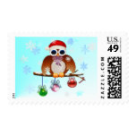 Merry Christmas Owl Postage