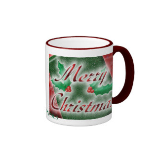 Merry Christmas Package Ringer Coffee Mug