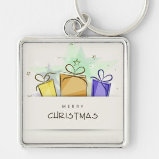 Merry Christmas Packages Keychains