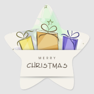 Merry Christmas Packages Sticker