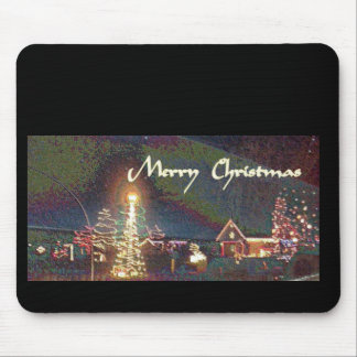 Merry Christmas Painted in Enamel Mouse Pad