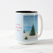 Merry Christmas Painting Personalized Coffee Mug