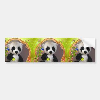Merry Christmas panda bear greeting cards Bumper Sticker