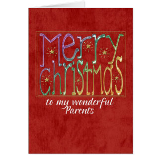 merry christmas parents greeting card