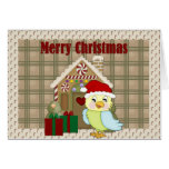 Merry Christmas Parrot Greeting Card