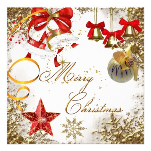 merry christmas party white xmas snow invitation 5 25