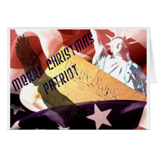 Merry Christmas Patriot Card