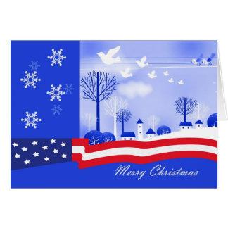 Merry Christmas. Patriotic Design Greeting Card
