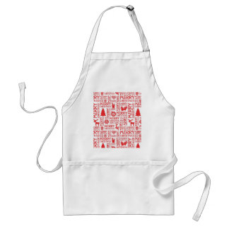 Merry Christmas pattern Adult Apron