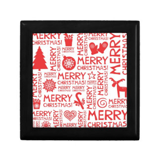 Merry Christmas pattern Trinket Boxes