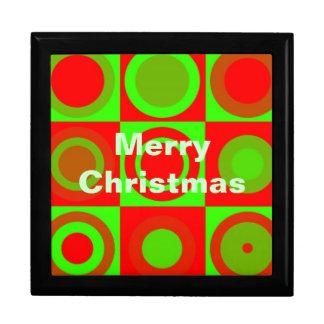Merry Christmas Pattern Giftbox Gift Box