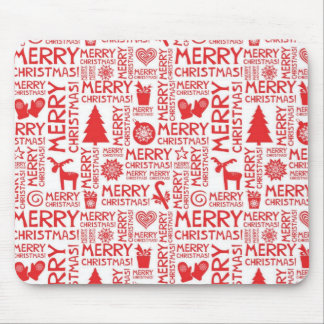 Merry Christmas pattern Mouse Pad