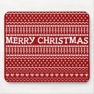 Merry Christmas pattern Mousepads