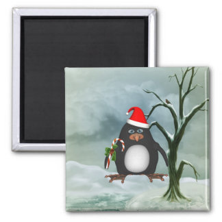 Merry Christmas Pauly Penguin Magnet