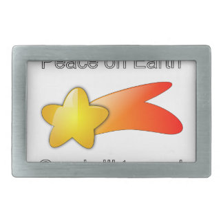 Merry Christmas Peace on Earth Goodwill to All Rectangular Belt Buckle