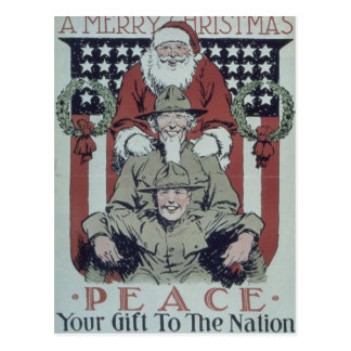"""Merry Christmas. Peace. Your Gift To The Nation."" Postcard"