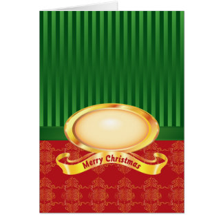 Merry Christmas Pearl Damask Card