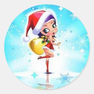 Merry Christmas - Pegatina Redonda