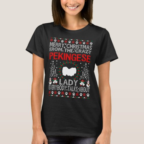 Merry Christmas Pekingese Dog Lady Ugly Sweater After Christmas Sales 5335