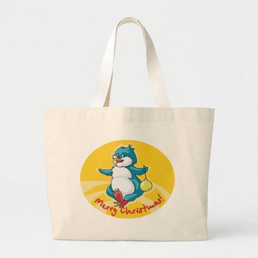 Merry Christmas Penguin Bags