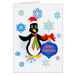 Merry Christmas Penguin Card