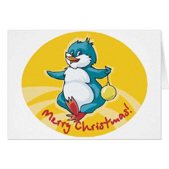 Merry Christmas Penguin Card