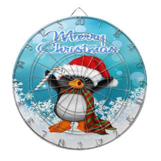 Merry Christmas Penguin Dart Board