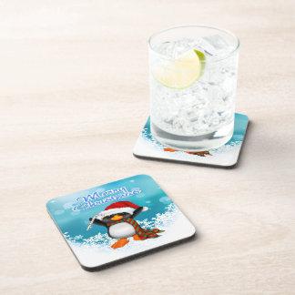 Merry Christmas Penguin Drink Coaster Set (6)