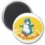 Merry Christmas Penguin Fridge Magnets