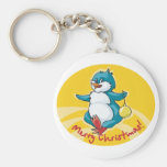 Merry Christmas Penguin Key Chains