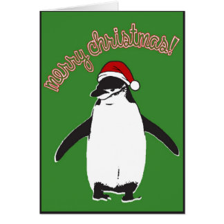 Merry Christmas Penguin Notecard