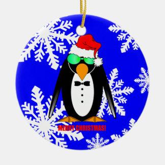 Merry Christmas penguin Christmas Ornament