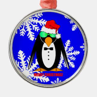 Merry Christmas penguin Christmas Tree Ornament