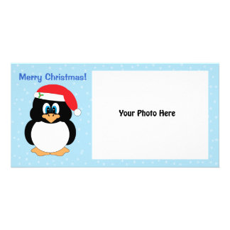 Merry Christmas Penguin Photo Card