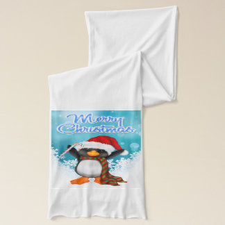 Merry Christmas Penguin Scarf