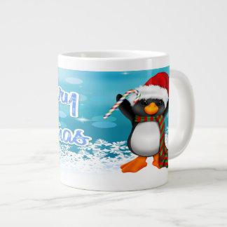 Merry Christmas Penguin Specialty Mugs 20 Oz Large Ceramic Coffee Mug