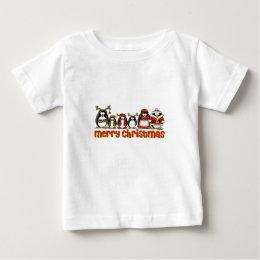 Merry Christmas Penguins Baby T-Shirt