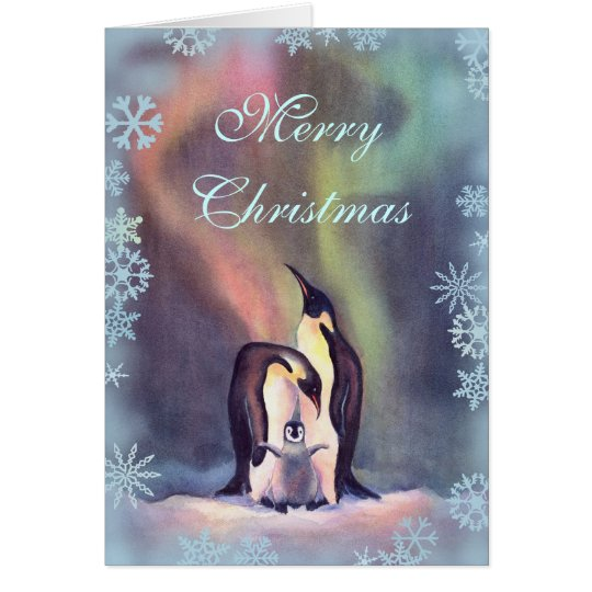 MERRY CHRISTMAS PENGUINS by SHARON SHARPE Card