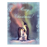 MERRY CHRISTMAS PENGUINS by SHARON SHARPE Post Card