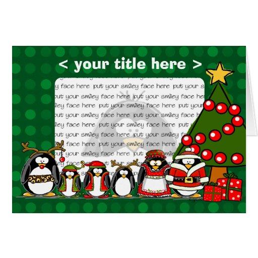 Merry christmas penguins card zazzle for Penguin christmas cards homemade