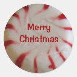 Merry Christmas Peppermint Candy Sticker