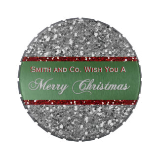 Merry Christmas Personalized Corporate Gift Jelly Belly Tin