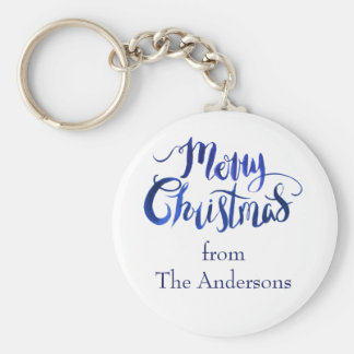 Merry Christmas Personalized Holiday Keychain