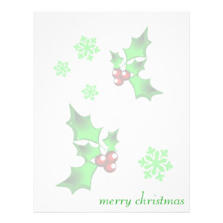merry christmas personalized letterhead