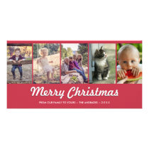Merry Christmas Personalized Multi Photo Holiday Card