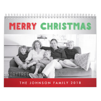 Merry Christmas Personalized Photo Calendars 2018